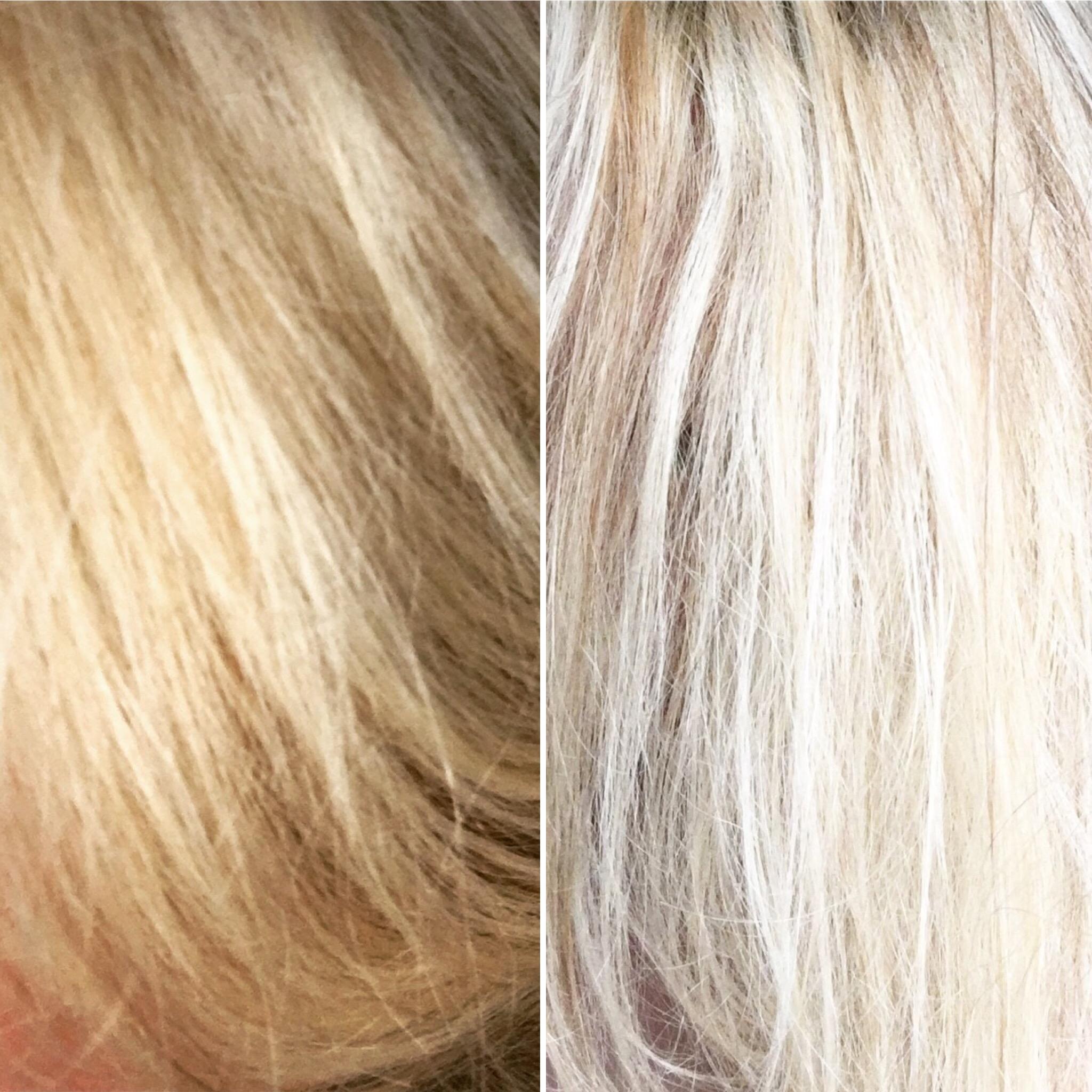 blondierte haare sind gelb